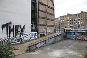 Derelict area cited for redevelopment in the Old Street area London, United Kingdom.