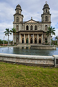 07 JANUARY 2007 - MANAGUA, NICARAGUA:  The historic cathedral in Managua, Nicaragua. The cathedral was destroyed in the 1972 earthquake that destroyed much of the Nicaraguan capitol. The earthquake, and the Somoza regime response to it, was one of the sparks that lead to widespread public support for the Sandanista movement.   Photo by Jack Kurtz