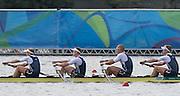"Rio de Janeiro. BRAZIL.  GBR M4-, Bow Alex GREGORY, Mohamed SBIHI, George NASH and Constantine LOULOUDIS. 2016 Olympic Rowing Regatta. Lagoa Stadium,<br /> Copacabana,  ""Olympic Summer Games""<br /> Rodrigo de Freitas Lagoon, Lagoa. Local Time 09:46:09  Thursday  11/08/2016 <br /> [Mandatory Credit; Peter SPURRIER/Intersport Images]"