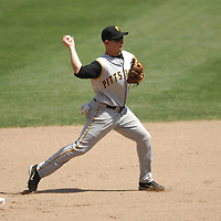 01 June 2007:  Pittsburgh Pirates shortstop Jack Wilson (2) completes a double play in the 7th inning in action against the Washington Nationals.  The Pirates defeated the Nationals 3-2 at RFK Stadium in Washington, D.C.  ****For Editorial Use Only****