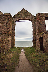 Slains Castle, also known as New Slains Castle, is a ruined castle in Aberdeenshire, Scotland. In 1895 the author Bram Stoker visited the area, staying at a cottage near Cruden Bay, and he may have been a guest at Slains. The castle is commonly cited as an inspiration for Stoker's 1897 novel Dracula.