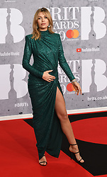 February 21, 2019 - London, London, United Kingdom - Image licensed to i-Images Picture Agency. 20/02/2019. London, United Kingdom. Pregnant Abbey Clancy at the Brit Awards in London. (Credit Image: © i-Images via ZUMA Press)
