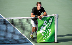 Lucas Miedler of Austria playing doubles final  at Day 9 of ATP Challenger Zavarovalnica Sava Slovenia Open 2019, on August 17, 2019 in Sports centre, Portoroz/Portorose, Slovenia. Photo by Vid Ponikvar / Sportida