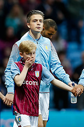 Jack Grealish of Aston Villa (making his first Premier League start) makes his way out onto the pitch - Photo mandatory by-line: Rogan Thomson/JMP - 07966 386802 - 07/04/2015 - SPORT - FOOTBALL - Birmingham, England - Villa Park - Aston Villa v Queens Park Rangers - Barclays Premier League.