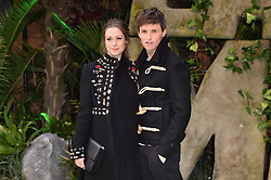 Eddie Redmayne and Hannah Bagshawe attending the Early Man World Premiere held at the BFI Imax, London. Picture date: Sunday January 14th, 2018. Photo credit should read: Matt Crossick/ EMPICS Entertainment.