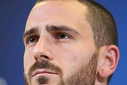 November 6, 2018 - Turin, Piedmont, Italy - Leonardo Bonucci (Juventus FC) during the press conference on the eve of the UEFA Champions League match between Juventus FC and Manchester United FC,  at Allianz Stadium on November 06, 2018 in Turin, Italy. (Credit Image: © Massimiliano Ferraro/NurPhoto via ZUMA Press)