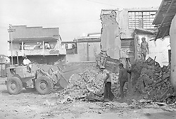 Cape Town. District Six- Demolition of District Six houses in the area of where CPUT now stands. INDEPENDENTMEDIA ARCHIVES.