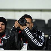 Besiktas's Ekrem DAG (C) during their Turkey Cup semi final soccer firsth match Besiktas between Gaziantepspor at the Inonu stadium in Istanbul Turkey on Wednesday 06 April 2011. Photo by TURKPIX