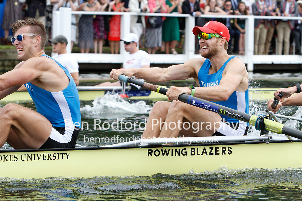 Race: 62 - Event: VISITORS' - Berks: 216 CALIFORNIA R.C., USA - Bucks: 230 TAURUS B.C.<br /> <br /> Henley Royal Regatta 2017<br /> <br /> To purchase this photo, or to see pricing information for Prints and Downloads, click the blue 'Add to Cart' button at the top-right of the page.
