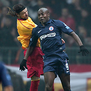 IBBSpor's Pierre Achille Webo Kouamo (R) during their Turkish Super League soccer match Galatasaray between IBBSpor at the TT Arena at Seyrantepe in Istanbul Turkey on Tuesday, 03 January 2012. Photo by TURKPIX