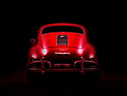 Image of a Red Porsche 356A coupe in Bellevue, Washington, Pacific Northwest by Randy Wells