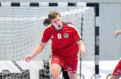 06.01.2017, BSFZ Suedstadt, Maria Enzersdorf, AUT, IHF Junior WM 2017 Qualifikation, Ungarn vs Österreich, im Bild Sebastian Spendier (AUT) // during the IHF Men's Junior World Championships qualifying match between Hungary and Austria at the BSFZ Suedstadt, Maria Enzersdorf, Austria on 2017/01/06, EXPA Pictures © 2017, PhotoCredit: EXPA/ Sebastian Pucher