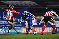 Sunderland midfielder Chris Maguire (7) runs with the ball during the EFL Sky Bet League 1 match between Ipswich Town and Sunderland at Portman Road, Ipswich, England on 26 January 2021.