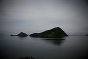 Japan Kyushu - Small island in the kagoshima bay - Ilots dans la baie de Kagoshima