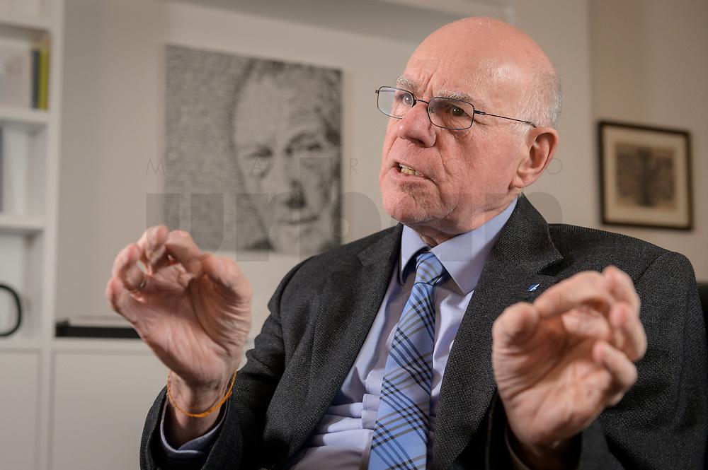 17 DEC 2019, BERLIN/GERMANY:<br /> Norbert Lammert, CDU, Vorsitzender der Konrad-Adenauer-Stiftung, KAS, waehrend einem Interview, in seinem Buero, Konrad-Adenauer-Stiftung<br /> IMAGE: 20191217-02-025<br /> KEYWORDS: Büro