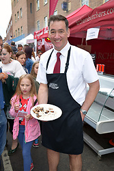 Battle of the Bangers at Norwich Food & Drink Festival taking place in and around The Forum, 17 June 2018. Norwich UK