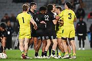 A scuffle breaks out.<br /> All Blacks Sevens v Australia, Trans-Tasman Sevens. Eden Park, Auckland. New Zealand. Saturday 22 May 2021. © Copyright Photo: Andrew Cornaga / www.photosport.nz