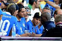 "Mario Balotelli con il fratello Enoch<br /> Kiev 01/07/2012  ""Stadio Olimpico""<br /> Football calcio Europeo 2012 Spagna Vs Italia<br /> Football Calcio Euro 2012<br /> Foto Insidefoto Alessandro Sabattini"
