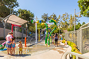 Mom's and Kids at the Sprayground Water Park at Crown Valley Park