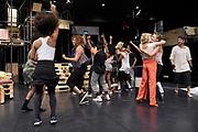 Open repetitie HAIR in de studio van Stage Entertainment.<br /> <br /> op de foto: Cast