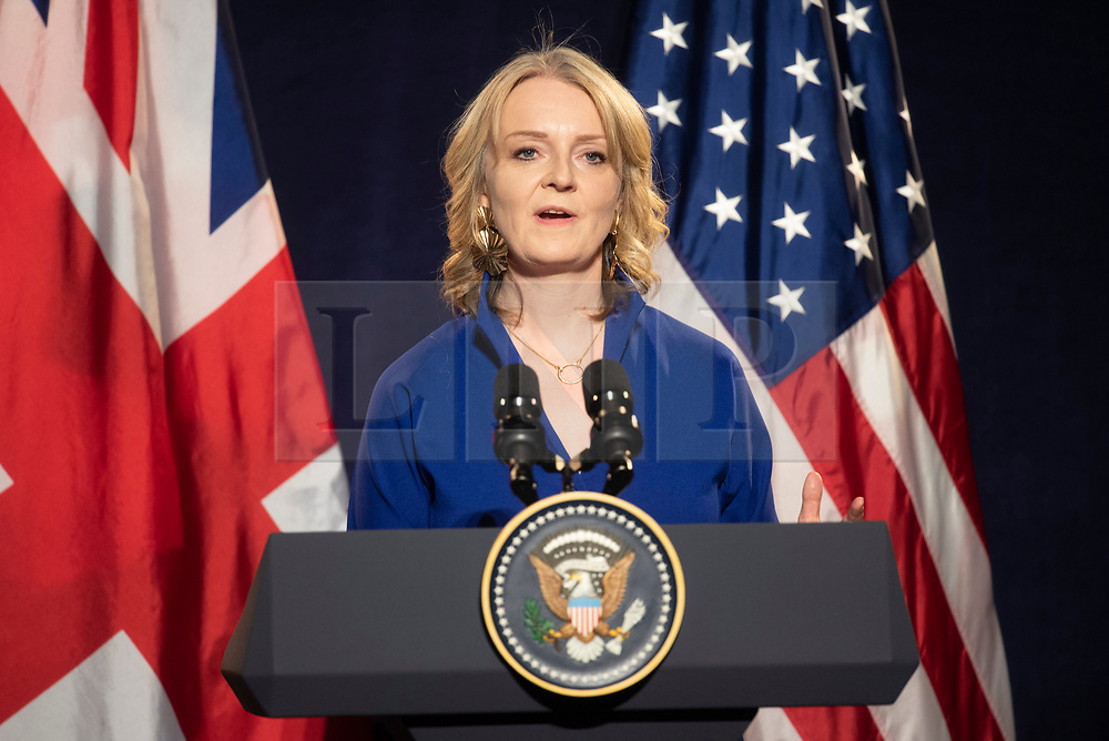 © Licensed to London News Pictures. 05/09/2019. London, UK. International Trade Secretary, Liz Truss MP makes a speech at the International Trade Dinner at Guildhall. Photo credit: Ray Tang/LNP