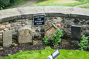 The cemetery for soldiers' dogs dates back to 1840 in Edinburgh Castle. Edinburgh is the capital city of Scotland, in Lothian on the Firth of Forth, Scotland, United Kingdom, Europe.