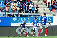 Fotball , Eliteserien<br /> 11.06.2021 , 20210611<br /> Vålerenga - Lillestrøm<br /> Aaron Dønnum jubler for sin redusering til 2-1 <br /> Foto: Sjur Stølen / Digitalsport