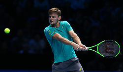 November 13, 2017 - London, England, United Kingdom - Rafael Nadal of Spain against David Goffin of Belgium.during Day Two of the Nitto ATP World Tour  Finals played at The O2 Arena, London on November 13 2017  (Credit Image: © Kieran Galvin/NurPhoto via ZUMA Press)
