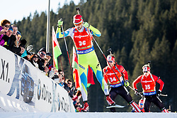 Jakov Fak (SLO) during Men 12,5 km Pursuit at day 3 of IBU Biathlon World Cup 2015/16 Pokljuka, on December 19, 2015 in Rudno polje, Pokljuka, Slovenia. Photo by Vid Ponikvar / Sportida