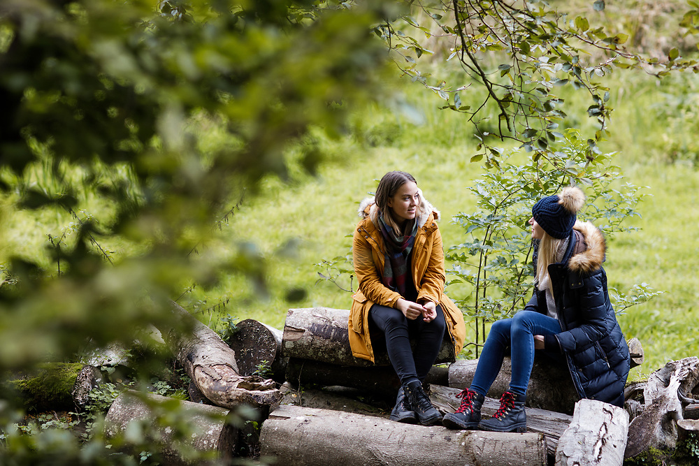 People enjoying the outdoors and woods in St Catherine's, Jersey