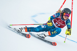 Nina O Brien (USA) during the Ladies' Giant Slalom at 57th Golden Fox event at Audi FIS Ski World Cup 2020/21, on January 16, 2021 in Podkoren, Kranjska Gora, Slovenia. Photo by Vid Ponikvar