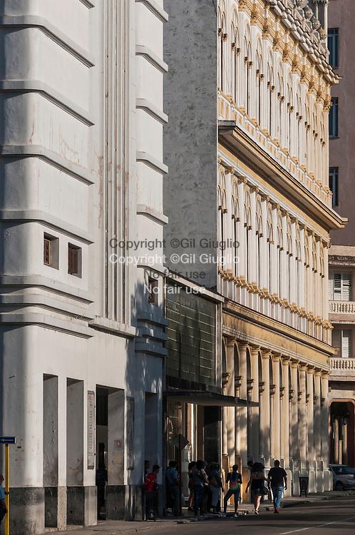 Cuba, La Havane, avenue du Prado, quartier Habana Centro // Cuba, Havana, Prado avenue, Habana Centro quarter
