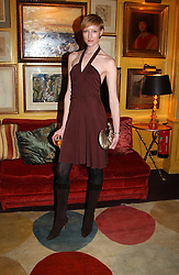 JADE PARFITT at a private dinner and presentation of Issa's Autumn-Winter 2005-2006 collection held at Annabel's, 44 Berkeley Square, London on 15th March 2005.<br /><br />NON EXCLUSIVE - WORLD RIGHTS