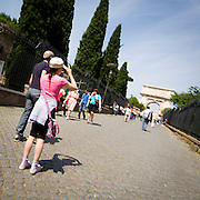Turisti a Roma..Tourists in Rome
