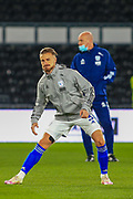 Cardiff City defender Joe Bennett (3) in the warm up during the EFL Sky Bet Championship match between Derby County and Cardiff City at the Pride Park, Derby, England on 28 October 2020.