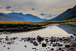 The River Etive flows into Loch Etive in Glen Etive, Highlands of Scotland<br /> <br /> (c) Andrew Wilson   Edinburgh Elite media