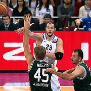 Anadolu Efes's Ermal KURTOGLU (B) during their Turkish Basketball League match Anadolu Efes between Aliaga Petkim at Aliaga Arena in Istanbul, Turkey, Sunday, October 23, 2011. Photo by TURKPIX