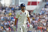 Wicket - Alastair Cook of England who is retiring from international cricket at the end of the series during the 3rd day of the 4th SpecSavers International Test Match 2018 match between England and India at the Ageas Bowl, Southampton, United Kingdom on 1 September 2018.