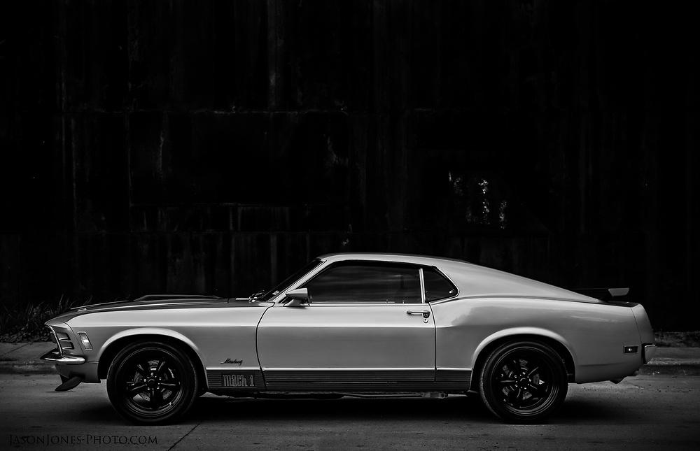 Mach 1 Mustang built by a custom car shop