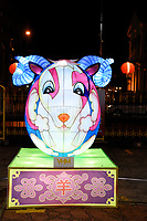 Goat Lantern at Chinese New Year