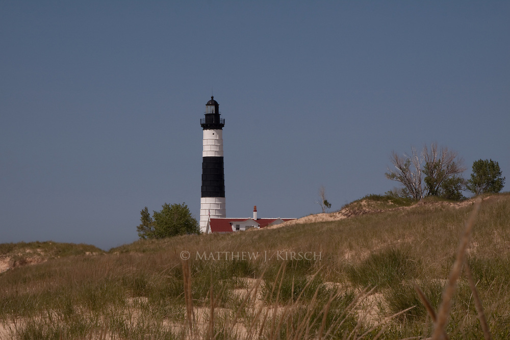 Big Sable Point Light was constructed in 1867.  It stands 112 ft tall.  Originally it was constructed of Cream City Brick but was later encased in steel due to deterioration of the brick.  Big Sable is located near Ludington, Michigan.