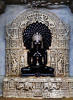 jain temple of lodruva jaisalmer in rajasthan state in indi