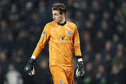 goalkeeper Mike Hauptmeijer of PEC Zwolle during the Dutch Eredivisie match between PSV Eindhoven and PEC Zwolle at the Phillips stadium on February 03, 2018 in Eindhoven, The Netherlands