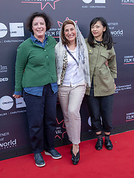 Judges photocall at Edinburgh International Film Festival<br /> <br /> Pictured: Grainne Humphreys, , Simin Motamed-Arya and Yung Kha (International Jury)