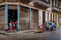 HAVANA, CUBA - CIRCA MAY 2017: Typical view of the streets of Havana