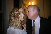Basia Briggs and Julian Fellowes, Richard and Basia Briggs host a party to celebrate Leopold the Horse's 21st Birthday. 35 Sloane Gdns. London SW1. -DO NOT ARCHIVE-© Copyright Photograph by Dafydd Jones. 248 Clapham Rd. London SW9 0PZ. Tel 0207 820 0771. www.dafjones.com.