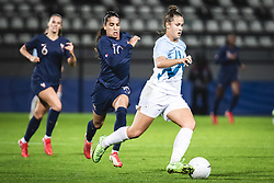 Ana Milovic of Slovenia during football match between Slovenia and France in 2nd round of Women's world cup 2023 Qualifying round on 21 of September, 2021 in Mestni stadion Fazanerija, Murska Sobota, Slovenia. Photo by Blaž Weindorfer / Sportida