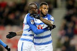 Reading's Madou Barrow and Reading's Leandro Bacuna celebrate
