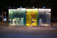 Glass see-thru public toilet in Tokyo 8/20/2020