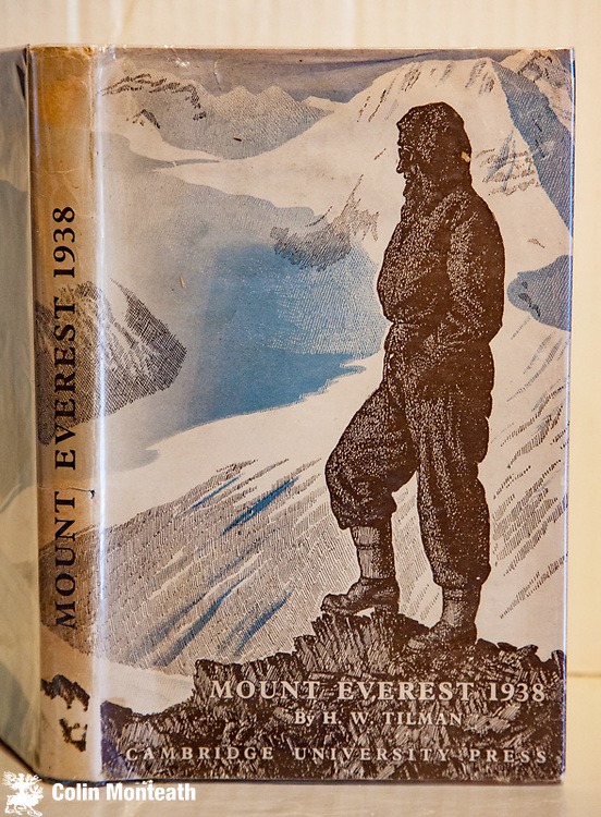 MOUNT EVEREST 1938 - H.W. Tilman, Cambridge University Press, 1948, 1st edn: VG+ with near perfect dustjacket. Classic understated Tilman account of a lightweight attempt on North ridge Chomolungma via Central Rongbuk, reached 8300m, team included Frank Smythe - publication delayed due to WWII. A fine copy. $NZ150 (Other cheaper copies available...please enquire for descriptions and price)